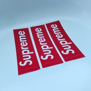 3 SUPREME box logo stickers